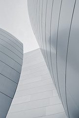 It Was An Incident (aqui-ali) Tags: california ca bw usa metal architecture losangeles exterior gap fv5 frankgehry disneyconcerthall gehryx aquiali:a=1