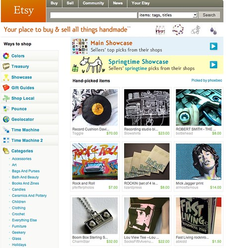 Charm Star on front page of etsy!