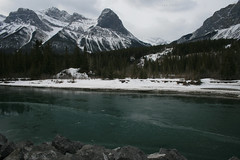 Me Too! (Turniposaurus) Tags: trees mountain canada green water rock clouds river alberta canmore bowriver halingpeak eastendofrundle cans2s