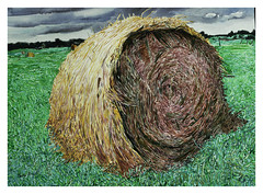 Hay Bale, Watercolour 1987 catalogue 1872 (Martin Beek) Tags: usa art america painting landscapes midwest artist drawing drawings watercolour backcountry catalogue inventory oldwork middleamerica themidwest mybackpages martinbeek artandphotography graphicworks thegreatmidwest michiganlandscapes martinbeek paintingsdrawingsandartworks art19802008 alifeinart painingsfromamerica paintingsandphotosofamerica watercolours19802010 drawingsandgraphicwork martinbeekdrawings martinbeeksworks art19802010 drawingswatercoloursandprints