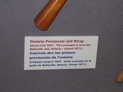 brown paddle description (haven't the slightest) Tags: ontario canada history riot bars escape lock military guard cell kingston prison crime weapon jail torture shackles punishment cuffs capitalpunishment prisoner inmate rmc jailhouse penitentiary confinement royalmilitarycollege federalprison prisoncell prisonguard