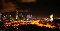 Sunset - Kings Park (-Bennie-) Tags: night cityscape fireworks australia perth kingspark westernaustralia canon400d