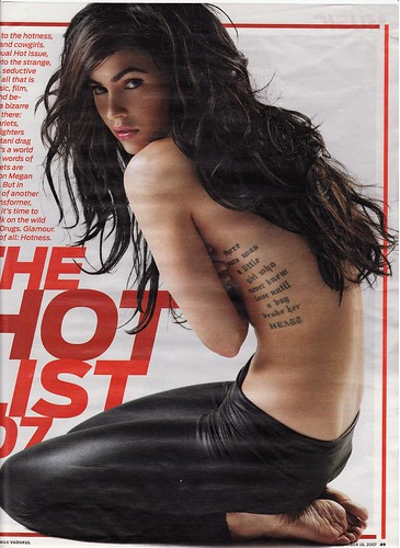megan fox rib tattoo. Megan Fox Tattoos