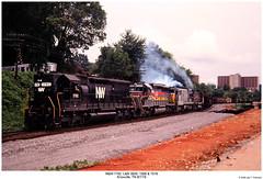 N&W 1792, L&N 3609, 1568 & 7518 (Robert W. Thomson) Tags: railroad century train nw diesel knoxville tennessee railway trains locomotive uboat trainengine ge norfolkwestern ln alco sd45 emd sd402 sd40 louisvillenashville sixaxle u30c familylinessystem c628