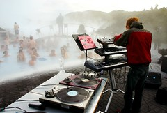 geothermal party (Hejl) Tags: party music festival iceland concert dj livemusic vinyl reykjavik record venue hotspring bluelagoon livedj airwaves interestingness8 i500