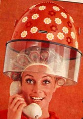 Brush rollers under the dryer (incurlers) Tags: hair brush 1960s rollers dryer hairdressing curlers hairrollers