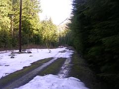 Not far past McClellan Butte east access point. Snow is here. (bikejr) Tags: ironhorse johnwayne