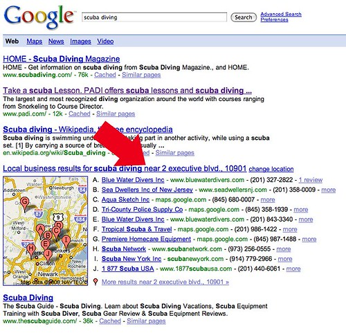 Google Local Results Change in Web Search