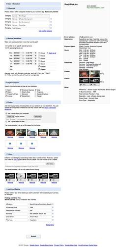 Centro de negocios local de Google