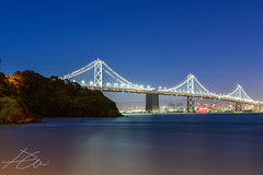 Friday Night Bay Bridge Shoot (DChoi95) Tags: bay san francisco treasure island exposure night sea ocean baybridge sf california ca iso100 500mm nikon d3300 sanfrancisco midnight architecture coast seascape geotagged landscape cliff trees forest forests serene cold nightlight citylights yerba buena yerbabuena