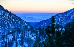 Bear Mountain (SamPowell.CA) Tags: bear mountain bigbear san bernadino ca snow dusk trees ski resort summit lake national forrest