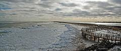 Retour à la Dune / Revisiting the dune (deplour) Tags: dunedebouctouche dune passerelle boardwalk glace ice mer sea détroit northumberland straight inexplore explore explorer httpswwwflickrcomgroupscloudsstormssunsetssunrises