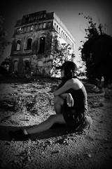 Dominik (RominikaH) Tags: blancoynegro retrato soledad reus dominik pensativa casaabandonada rominikah