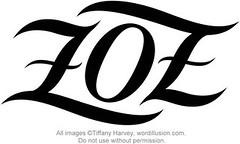"""Zoe"" Ambigram"