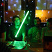 Green lightsabre in the pub