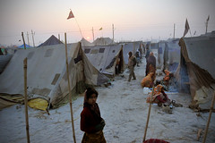 Tent City at the Magh Mela (Leonid Plotkin) Tags: india festival asia traditional religion tent ritual tradition hindu hinduism tentcity mela sangam allahabad pryag maghmela