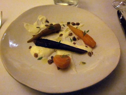 Coi - San Francisco - May 2011 - Carrots, Coffee Beans, and Creme Fraiche