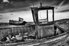 Left 4 Dead (lowbattery) Tags: uk beach sussex boat dungeness marsh soe hdr romney romneymarsh photomatrix singleraw shieldofexcellence