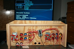 Mame console underneath