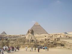 Pyramid-Spynx-Pyramid (upyernoz) Tags: egypt pyramids sphynx giza مصر pyramidofkhafre pyramidofmenkaure pyramidofchephren الاهرامات أبوالهول pyramidofmycerinus جيزة