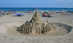 Sand Castle (G w Clark) Tags: sea castle beach sunshine spain sand bluesky seafront sandcastle calamillor majorica