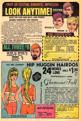 Vintage Ad #400: Hip Huggin Hairdos and Face Fastenin Fuzz