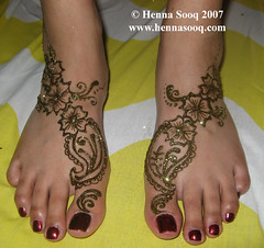 Nadia Feet at Mehnaz Bridal Mehndi night