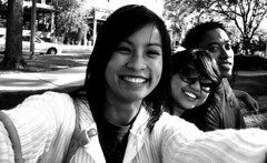 Smiles (L. Asuncion) Tags: portrait people blackandwhite smile lumixdmcfx07