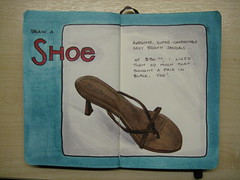 Moleskine - Draw a Shoe (chicgeekuk) Tags: brown laura colour moleskine colors notebook sketch aqua drawing journal sketchbook marker draw markers sandal copic kishimoto lechateau copics everydaymatters copicmarkers laurakishimoto laurakishimotoca drawashoe
