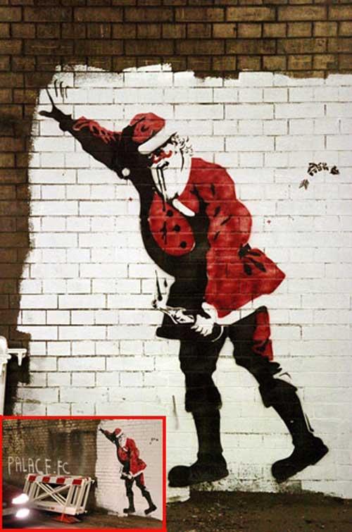 Day 1: Santa wall