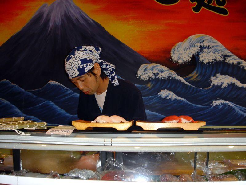 Yoshi making sushi
