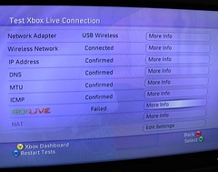 Xbox Live Connection Test Failed