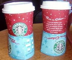starbucks cups stack in o rings (Doug Golden) Tags: cups stacked