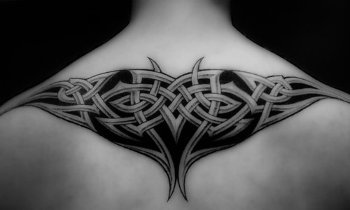 New Design Tribal Tattoo on Back Body Man