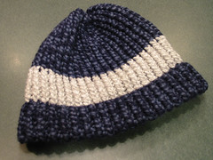 Hat, adult; blue and grey