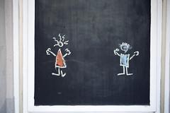 Malstunde (Herr Schlauschlau) Tags: door sketch chalk bonn eingang entrance chalkboard rhein blackboard tür januar spaziergang tafel zeichnung kreide