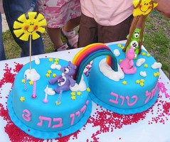 Care Bears cake (up) (yifatiii) Tags: cake carebearcarebearsglcksbrchiglcksbrchiskuchen