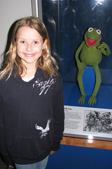 Kaya with Kermit the Frog