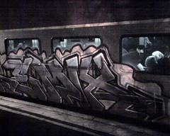 running commuter train boston