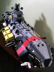 SHIP WIP 11 (M.R. Yoder) Tags: toy ship lego space wip hobby plastic goldman ghoul moc