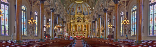 Saint Joseph Shrine, in Saint Louis, Missouri, USA - nave, wide