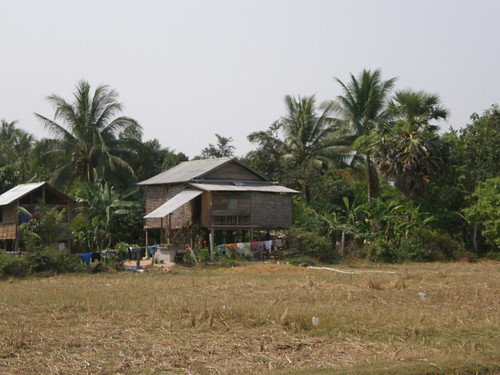 Stilt house in rural Siem Reap