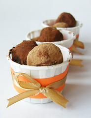 Nutella truffles (andrea ) Tags: orange gold with sweet chocolate ground valrhona ribbon nutella cocoa ghirardelli coated truffles internationalfood