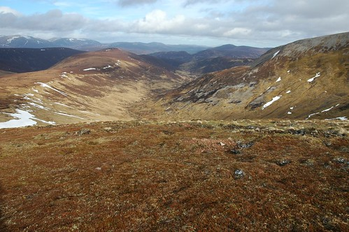 Top of the Battery left and Carn Bhac right