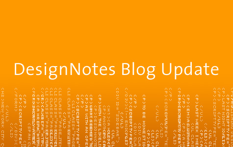 DesignNotes Blog Update