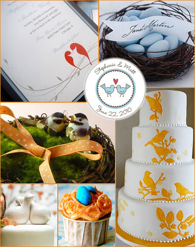 Love Birds Wedding Theme by BestWeddingSites.com.