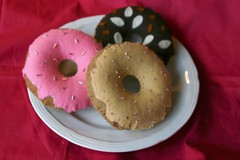 Felt Doughnuts (Pictures by Ann) Tags: pink brown art cooking wool kitchen breakfast project yummy great waldorf creative cook fake craft tasty sew felt chef donuts donut doughnut faux imagination montessori doughnuts imaginary pretend fakefood woolfelt breakfastfood fauxfood naturalkids dramaticplay feltfood womanmade feltdoughnuts blanketstitched feltdonut feltdoughnut harvestmoonbyhand feltdonuts