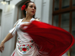 Flamenco dancer  0199 (Lieven SOETE) Tags: red brussels party people woman roma girl female rouge donna dance movement mujer fiesta dancing gente belgium danza femme mulher young diversity bruxelles dancer danse sensual nia tanz be frau multicultural 2008 dana brussel fille bruxelas flamenco mdchen dans reddress junge gens mouvement tanzen joven ragazza gitanas redskirt jeune gitana molenbeek gitan danarina intercultural danseuse ballarina gitane danar giovane ballar tanzer dansante sevilhanas monochromia mchc lievensoete fikke