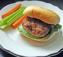 asian-style chicken burger
