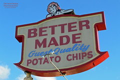 Better Made Potato Chips - Detroit (DetroitDerek Photography ( ALL RIGHTS RESERVED )) Tags: usa history sign digital bag midwest hamtramck michigan detroit may bbq icon chips historic panasonic eat snack local potatochip 2008 maid allrightsreserved 1930 313 motown motorcity gratiot dmcfz30 billbonds bettermade sweetbbq